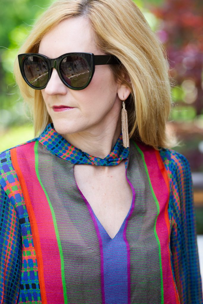 Close up of Retro Peasant Blouse from Anthropologie