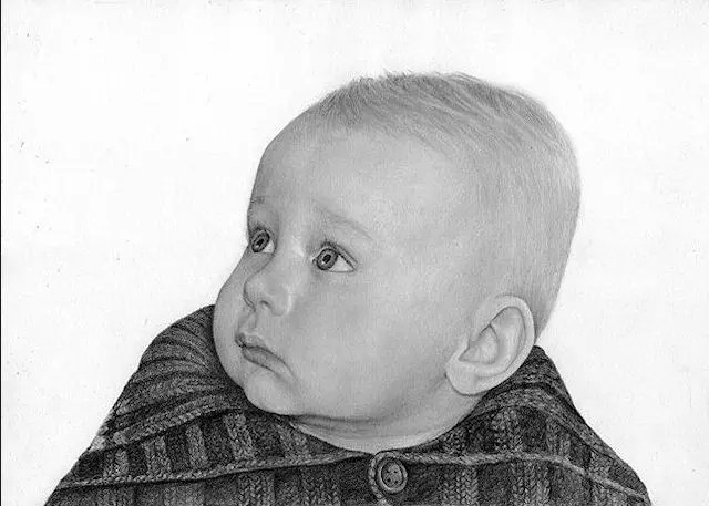 people, child, drawing, graphite, Kathrin Guenther, art