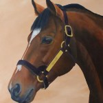 Galileo, stallion painting by Kathrin Guenther