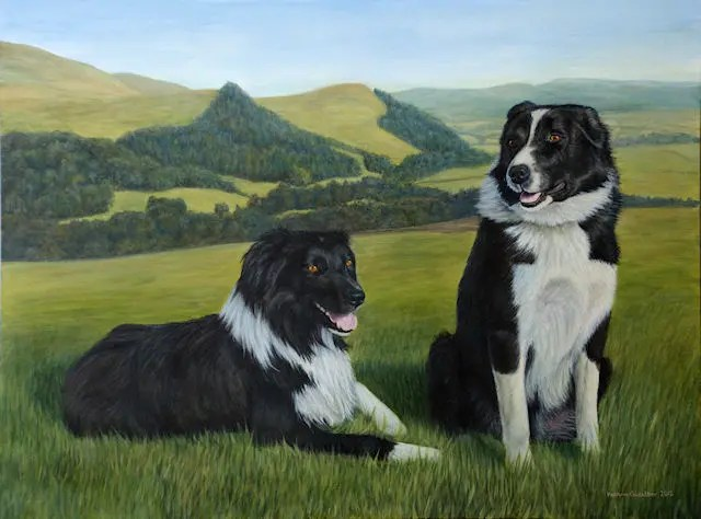 pet dog sheepdog painting Kathrin Guenther acrylic art