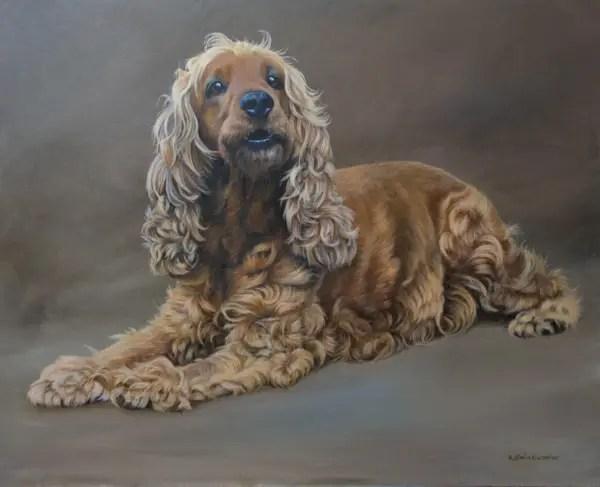 dog painting, pet portrait, Kathrin Guenther, art