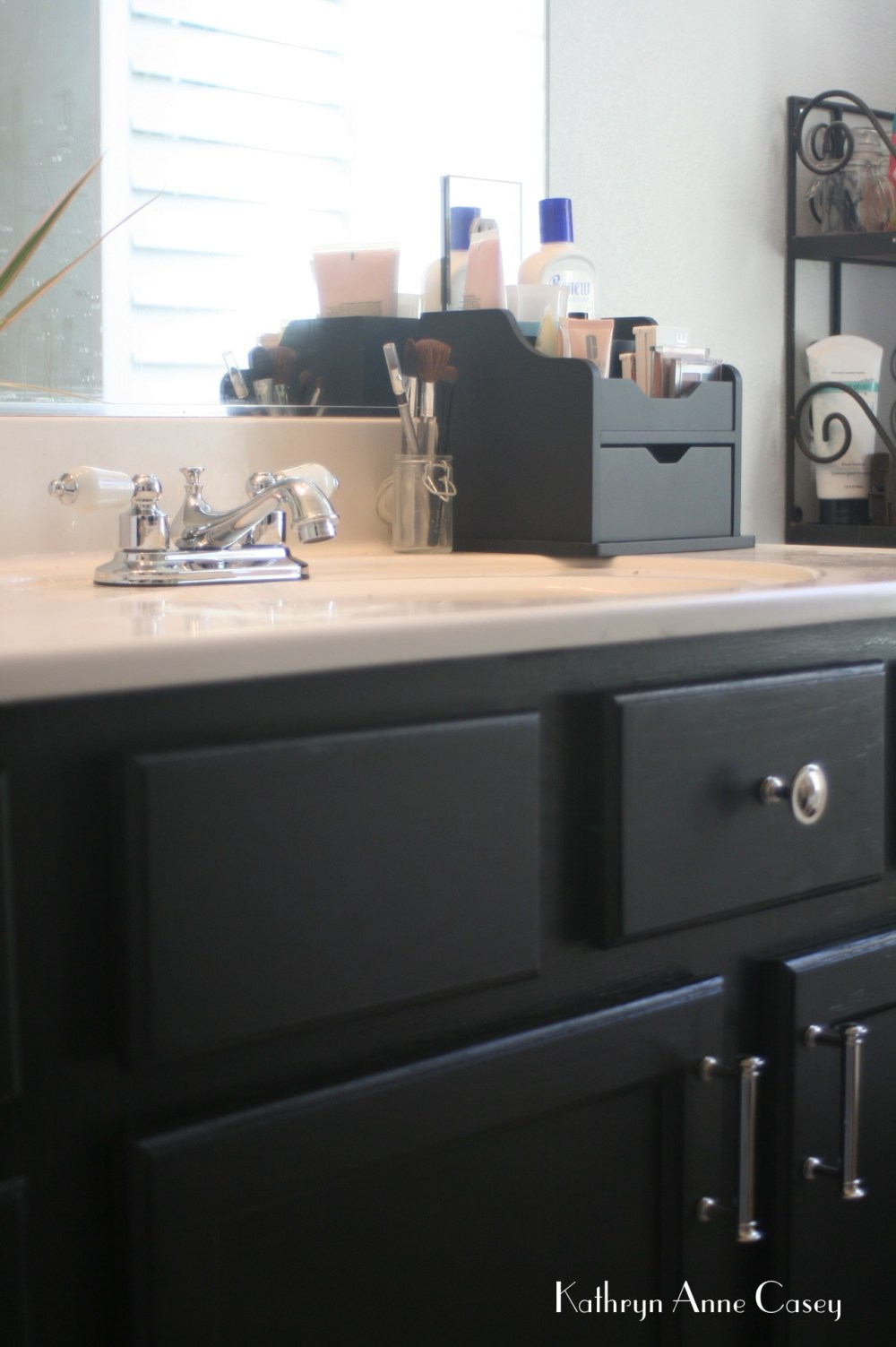 Photo of at home bathroom countertop