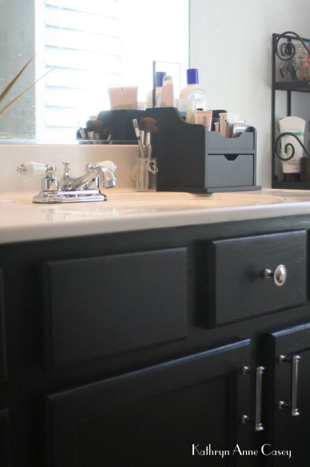 Photo of at home bathroom countertop