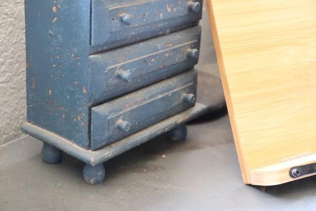 Vintage miniature blue dresser