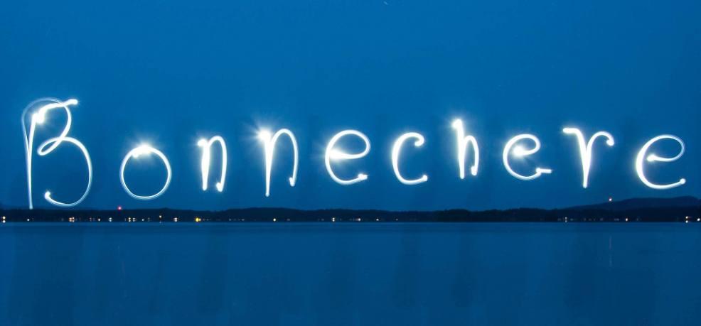 Bonnechere lights, photo by brian tao