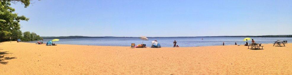 bonnechere beach at round lake, photo by brian tao