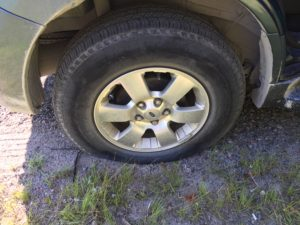 Flat tire ford escape