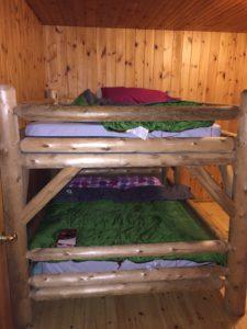bunk beds in bonnechere provincial park