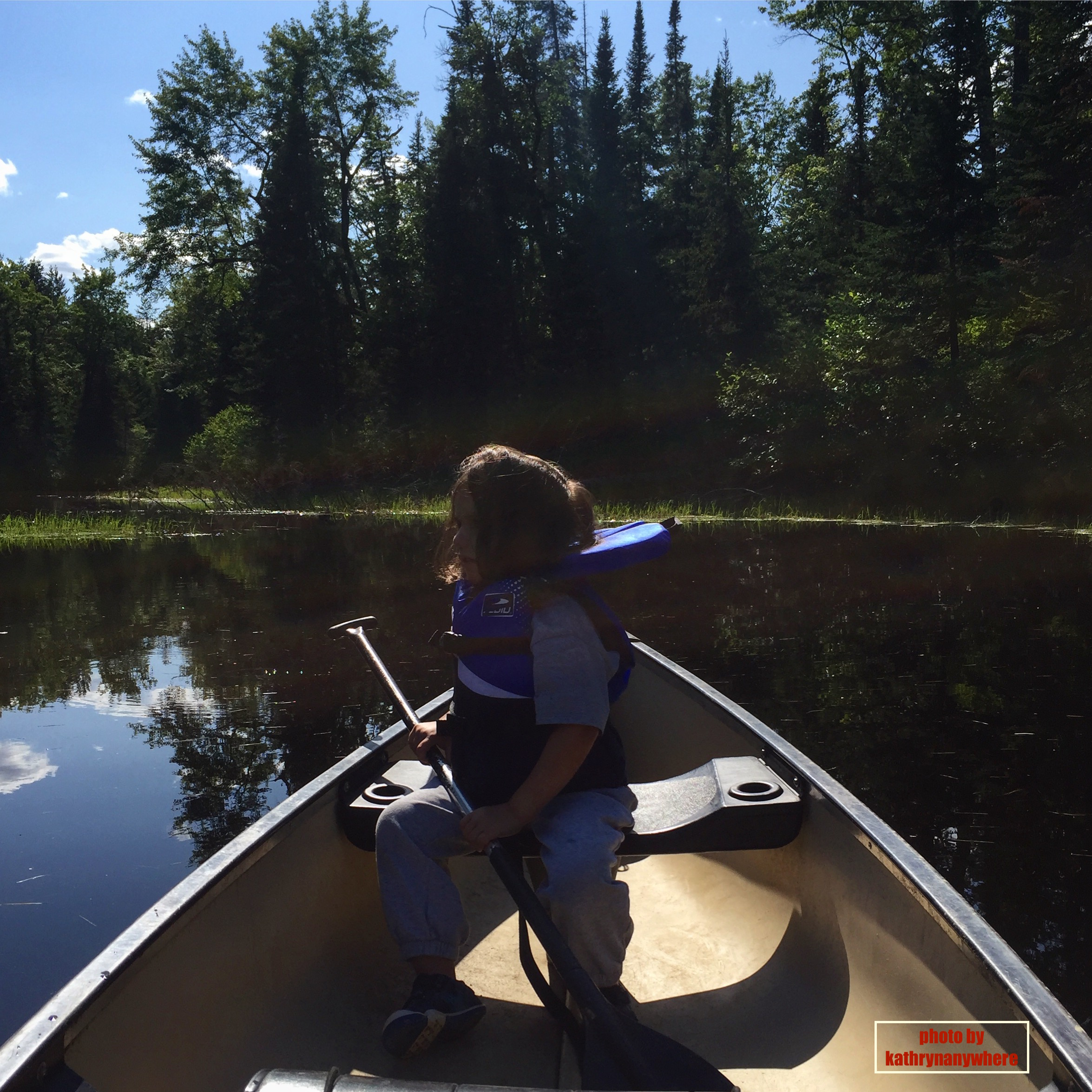 canoeing on Bonnechere River