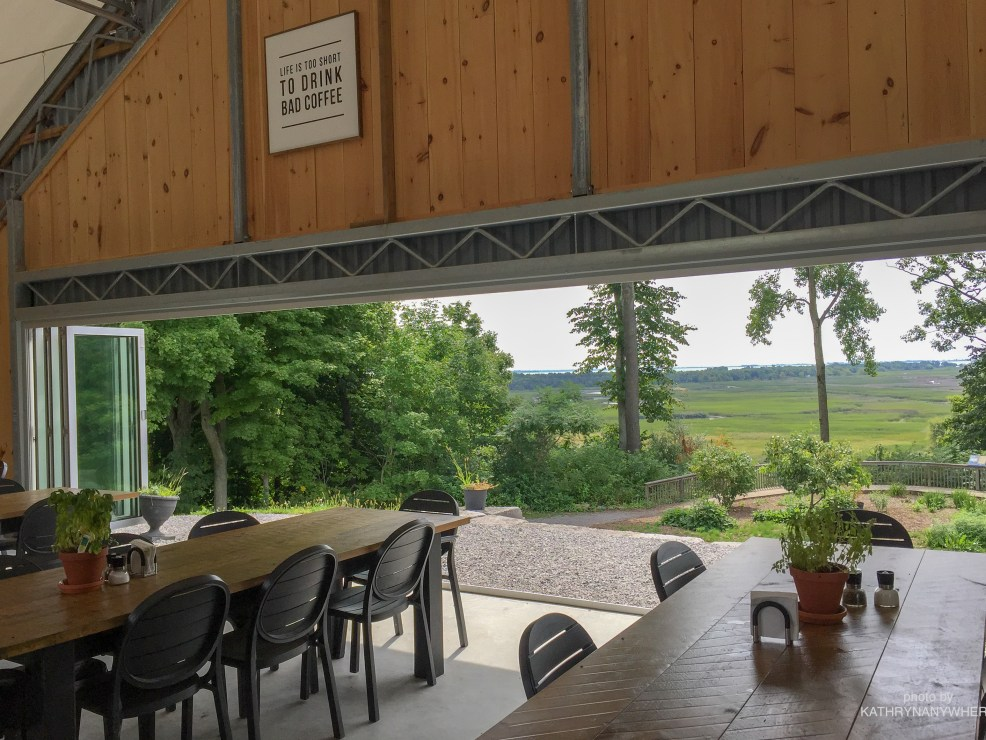 Luxury Family Glamping Ontario, breakfast tables