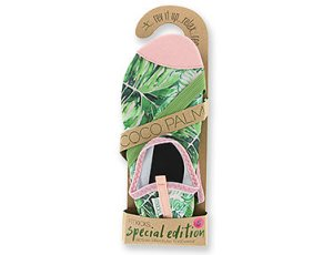 Special Edition Fitkicks for women, Coco Palm, green palm tree print with flamingo pink trim #fitkickslife #fitkicks #shoe #watershoe #comfortableshoe #beachesmoms #beachshoe #fitkickscanada #cocopalm #comfyshoe