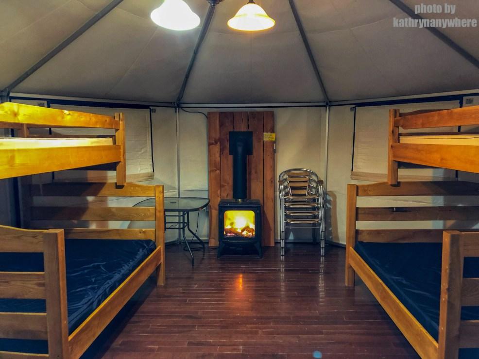 Inside yurt #60 winter camping at MacGregor Point Provincial Park in February #findyourselfhere #macgregorpointprovincialpark #macgregorpoint #macgregorpp #ontarioparks #yurtcamping #wintercamping #outdoors #adventureparenting #portelgin #brucepeninsula
