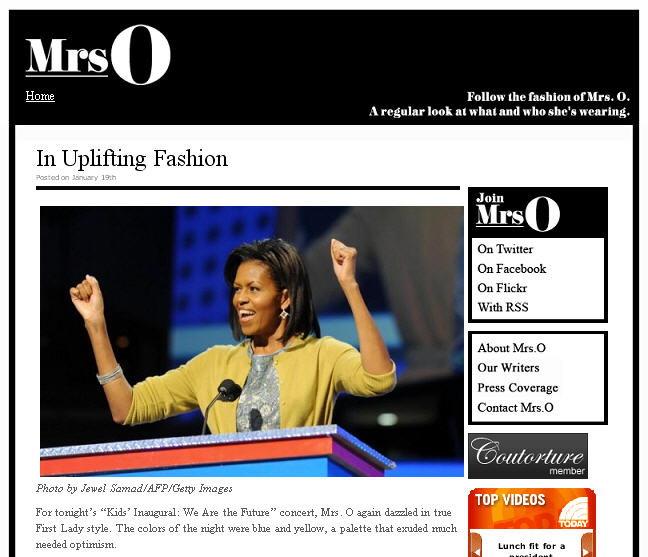 Mrs O blog