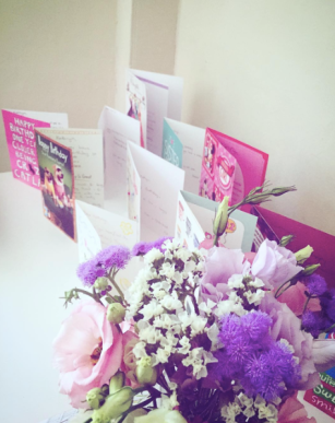 Birthday flowers & cards