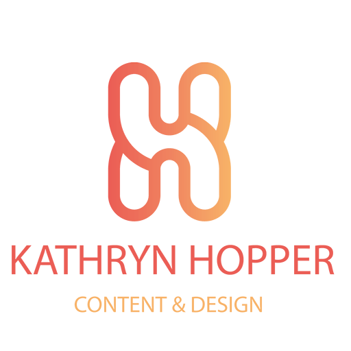 Logo for Kathryn Hopper: Content and Design