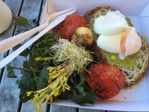 Breakfast at Frenchs Forest Organic Farmers Market
