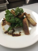 My version - Grilled Mushroom & Pear Salad