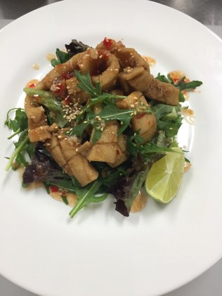 My Salt & Pepper squid with Asian dressing