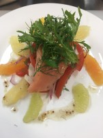 My sous vide Salmon & Citrus Salad