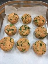 Fish cakes ready for the fridge