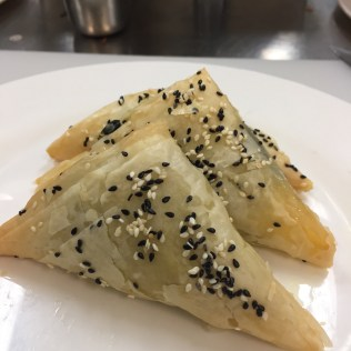 Baked Spinach & Ricotta Triangles
