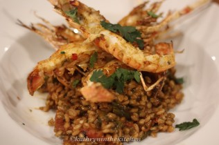 My Moroccan Scampi & Pearl Barley