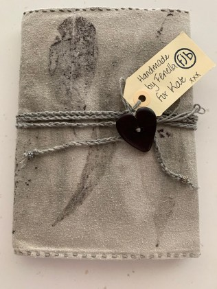Beautiful hand dyed linen/hand stitched journal