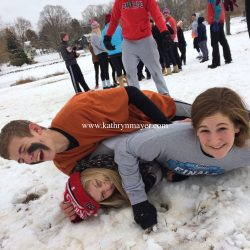 Family capture-the-flag Thanksgiving tradition, goose poop and all