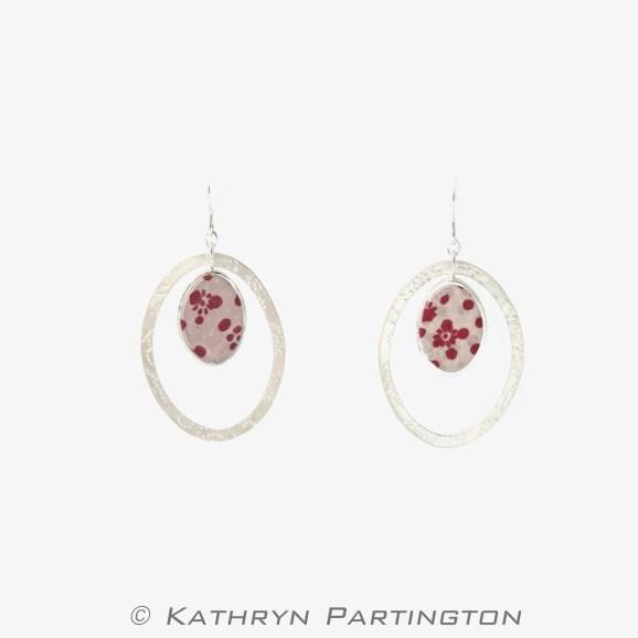 'Seasons' Berry Autumn Drop Earrings by Kathryn Partington