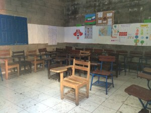 One of the classrooms at the Susuma school.