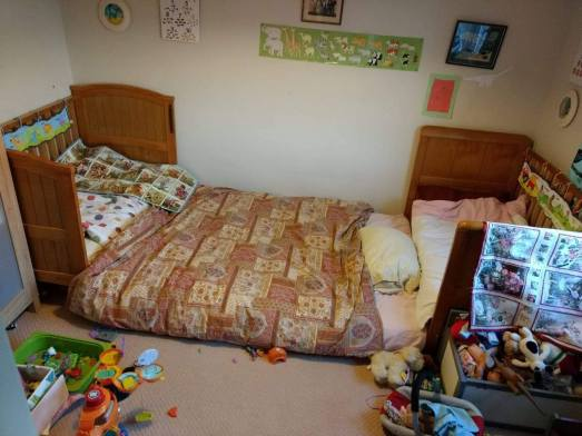 floor bed two cots