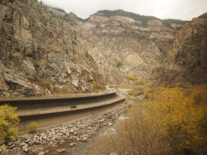 Multi-level highway through the Rockies