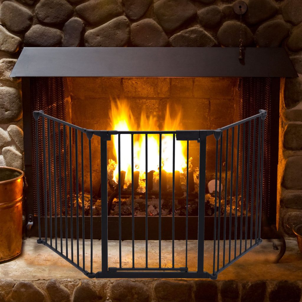 Wood Stove Baby Fence Hearth Gate Fireplace Fence Baby Safety Fence Hearth Gate Bbq Metal