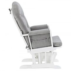 Glider Chair And Ottoman Replacement Cushions One Design Set White Finish Gray Nursery