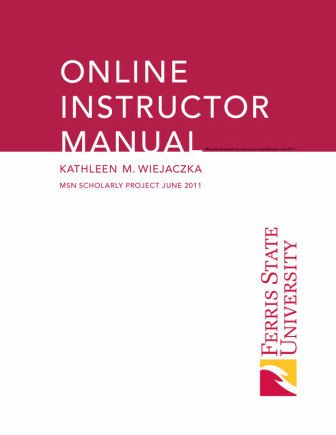 Appendix J Online Instructor Manual Cover Page  Kathy