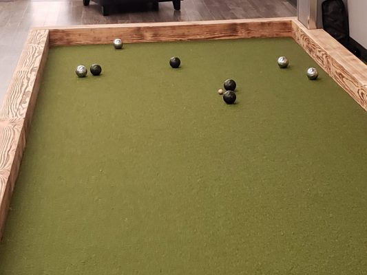 Curling with balls