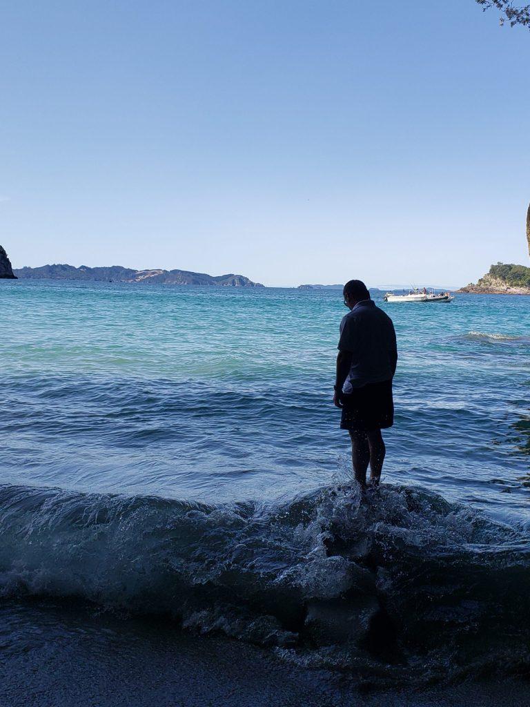 Dave walking on water