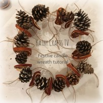 Attach pine cones to the skewers, making sure they are placed evenly