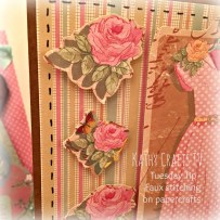 Adding faux stitching to handmade cards