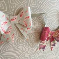 Dovecraft Painted Blooms bow garland
