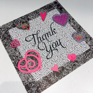Heart card using Trimcraft First Edition Black Out papers