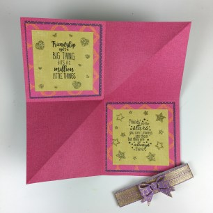 Square fold pop up card