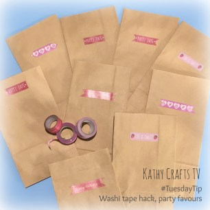 Washi tape party favour bags