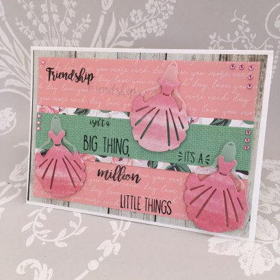 Card made using the Dovecraft princess die