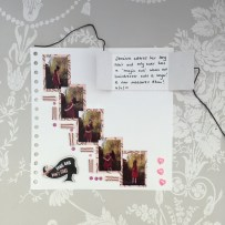 Long Hair don't care - Dovecraft kiss and make up scrapbook layout 3