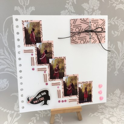 Long Hair don't care - Dovecraft kiss and make up scrapbook layout