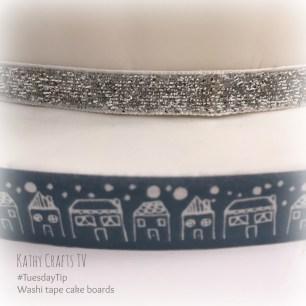 TuesdayTip Washi for a cake board trim4