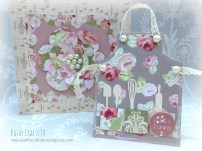 Apron card made with Floral Notes from Simply Creative