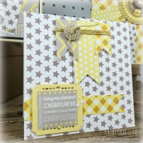 Baby steps bunting banner card