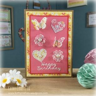 Handmade die cut greetings card using Dovecraft ranges
